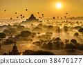 above, bagan, myanmar 38476177