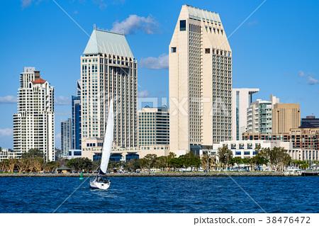 聖地亞哥市中心景觀和遊艇 38476472