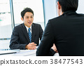 商人,辦公桌,面試,人員,教練 38477543