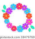 colorful floral wreath 38479769