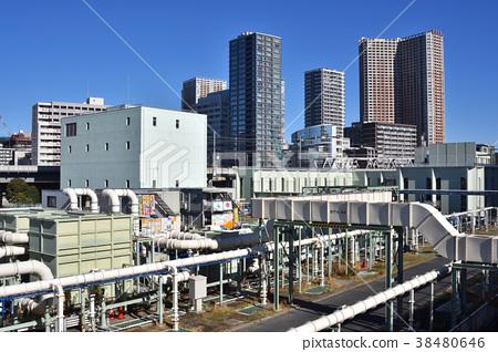 도쿄도 하수도 국의 시바 우라 물 재생 센터 38480646
