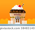 bakery cake shop store building front vector 38483140