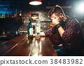 bar, man, beer 38483982