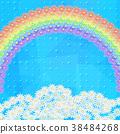 Flowers Rainbow and Sky 38484268