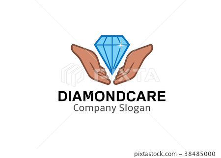 Diamond Care Logo Design Illustration 38485000