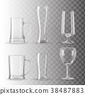 Set of empty transparent glasses 38487883