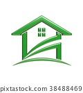 Green House. 3D Rendering Illustration 38488469