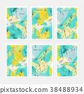 Sketched dandelion flower yellow green 38488934