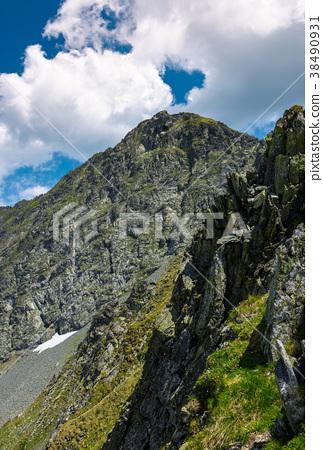 rocky cliffs of Fagaras mountains in summertime 38490931