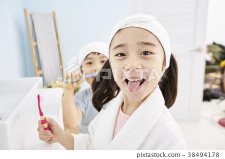 양치질,어린이,한국인 38494178