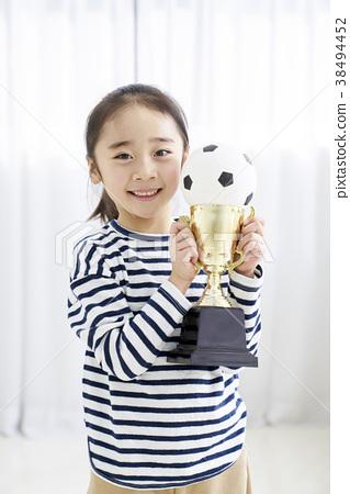 축구,축구공,어린이,한국인 38494452