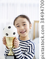 미소, 여자아이, 여자 38494700