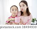 刷牙,妈妈,女儿,韩国 38494930