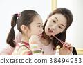 daughter, gargle, Brushing 38494983