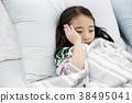 감기, 고통, 눕기 38495041