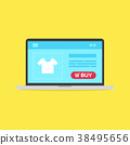Computer laptop and shopping online buy now. 38495656