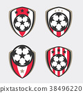 Soccer Logo or Football Club Sign Badge Set 38496220