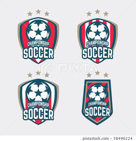 Championship Soccer Logo or Football Club Sign. 38496224