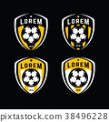 Football logo badges set. Good for football team. 38496228
