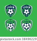 Football logo badges set. Good for football team. 38496229