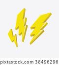 Lightning bolt icon. 38496296