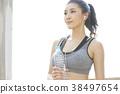 여성 스포츠 달리기 38497654