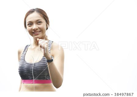 여성 스포츠 달리기 38497867