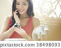 亚洲女人皮肤护理 38498093