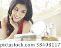 亚洲女人皮肤护理 38498117