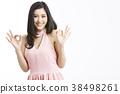 亞洲女人肖像系列手勢 38498261