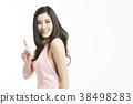 亞洲女人肖像系列手勢 38498283