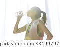 在家做健身的妇女 38499797