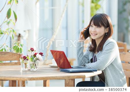 여성 노마드 작업자 38500374