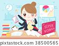 cartoon super business woman 38500565