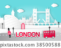 cartoon london city 38500588