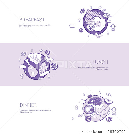 Breakfast, Lunch And Dinner Meal Concept Template 38500703