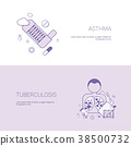 Asthma And Tuberculosis Diseases Concept Template 38500732