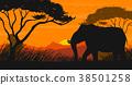 scene, silhouette, field 38501258