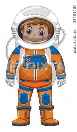 Happy boy in astronaut costume 38501586