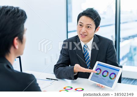 商人,商務談話,提案,會議 38502349