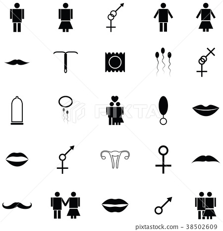 man and woman icon set 38502609