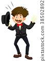 Magician in black tuxedo 38502892