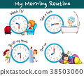 Different morning routines at different times 38503060