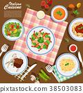 Italian cuisine on the table 38503083