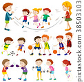 Children playing different sports 38503103