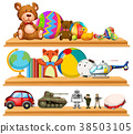 toys shelves vector 38503105