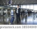 商人在機場 38504049