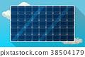 solar panels vector background 38504179