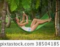 Relaxing young woman 38504185