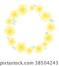 노란색 화관 38504243